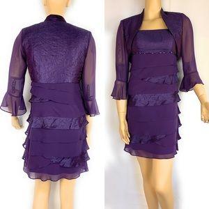 Chiffon dress with jacket
